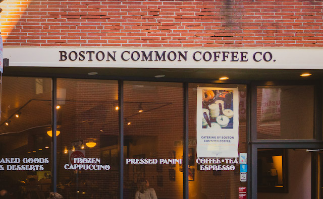 North End Boston Commons Coffee Shop