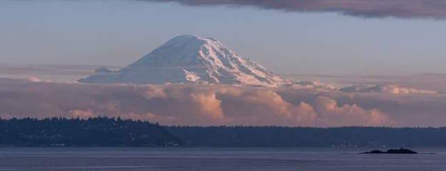 Mt Rainier form Puget Sound