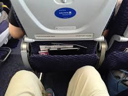 Modest Legroom-United flight to Seattle