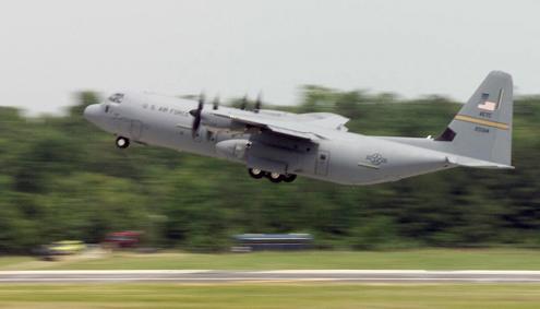 C-130J Hercules cargo aircraft