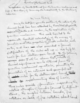 Linus Pauling Notes