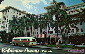 Moana Hotel Hawaii 1960