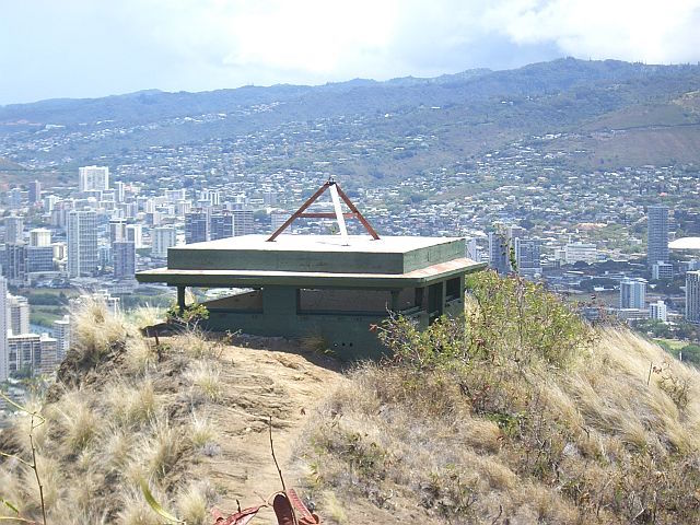 Pill Box Bunker atop Diamond Hawaii