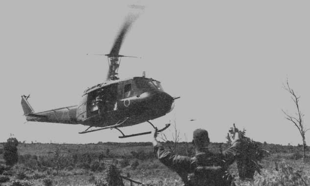 Supply Chopper Arriving During Vietnam War
