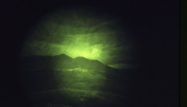Looking through the Starlight Scope in Vietnam war