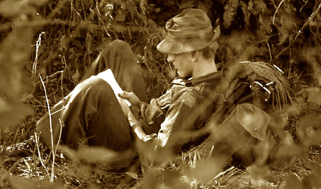 Writing home from Vietnam War