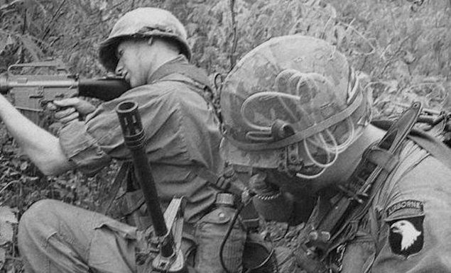 Army 101st Airborne Screaming Eagles During Vietnam War