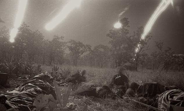 Artillery A Shau Valley Nighttime Vietnam War