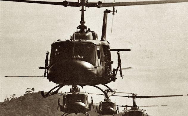 Hueys coming in Vietnam War