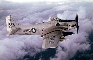 Navy A-1 Skyraider over Vietnam