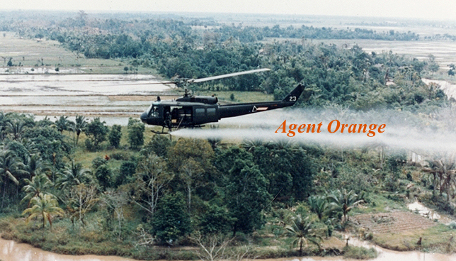 Spraying Agent Orange in Vietnam War
