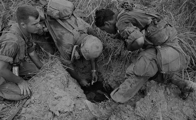 Checking Tunnel Vietnam War 1968 (AP Photo
