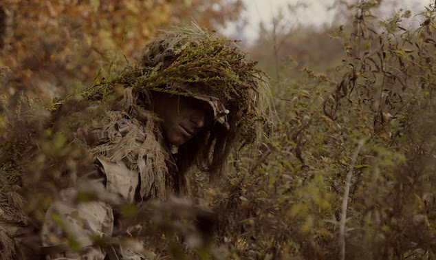 Marine in Ghillie suit