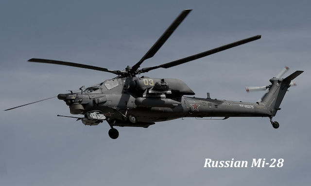 Russian Mi-28 Helicopter