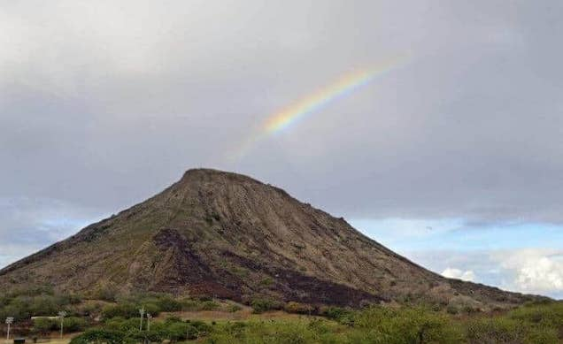 Rainbow over Koko Head Crater