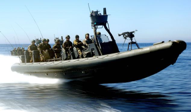 Navy Seals in a Zodiac