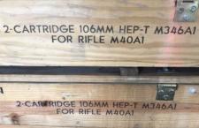 106mm recoilless rifle ammo box