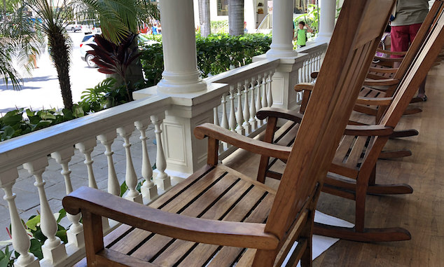 Koa Wood Chairs at Moana Hotel