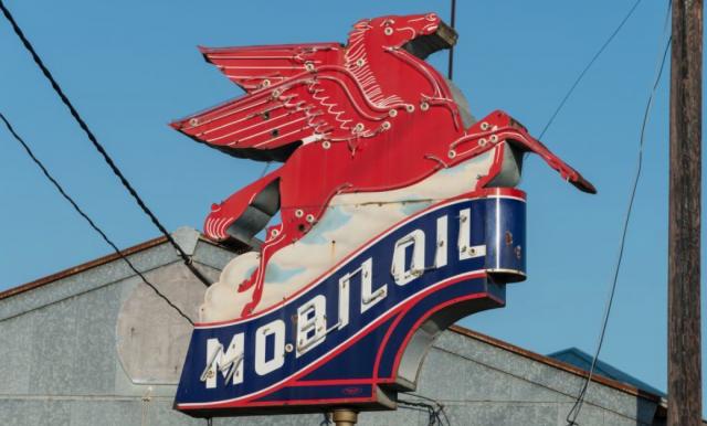 Mobil oil Service Station